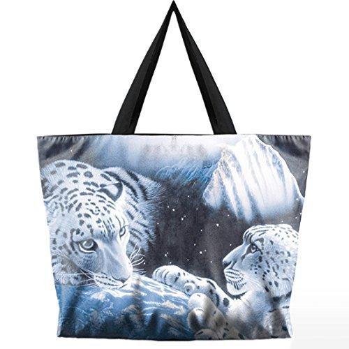 Belsen, Borsa a spalla donna multicolore Devil Taglia unica White Tiger