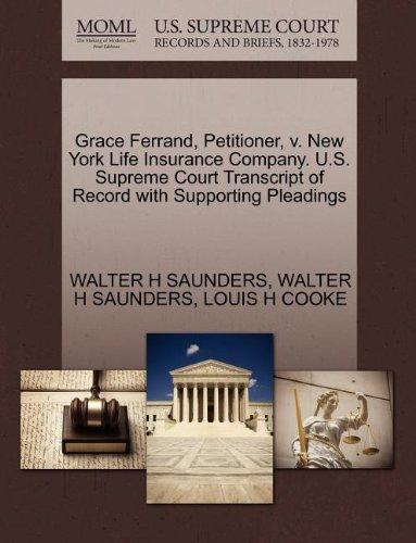 grace-ferrand-petitioner-v-new-york-life-insurance-company-us-supreme-court-transcript-of-record-wit