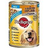 Pedigree Adult - Lot de 12 boîtes de nourriture pour chien - Avec 3 sortes de volailles en pâté - 400 g chacune
