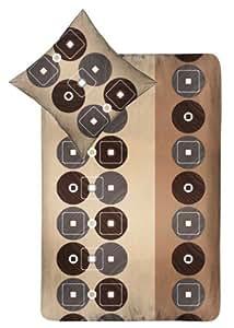 4-Teilig Microfaser Bettwäsche Set mit Reißverschluss 2x 135x200 Bettbezug + 2x 80x80 Kissenbezug , Öko-Tex Standart 100
