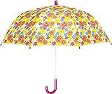 Playshoes Mädchen Regenschirm Blumendruck, Gr. One size (Herstellergröße: original), Mehrfarbig (Weiß 1)