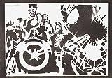 Los Vengadores Hecho A Mano - Handmade Street Art Poster