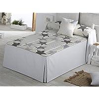 Sansa - Colcha edredón ESTRELLAS cama 90 - color Gris