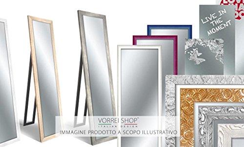 confronta il prezzo Lupia Specchio da parete MIRROR SHABBY CHIC 35X115 cm colore Bianco miglior prezzo