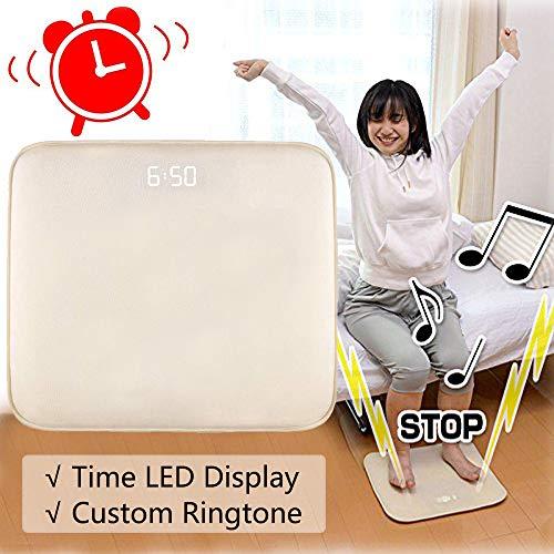 Despertador Alfombra Inteligente Despertador Digital Terciopelo Suave con Fecha Pantalla de LED Música...