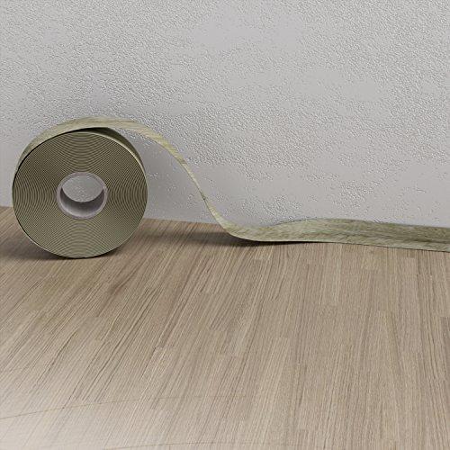 Weichsockelleiste Eiche Hell 25m Sockelleisten PVC selbstklebend Scheuerleiste Knickwinkel 52mm
