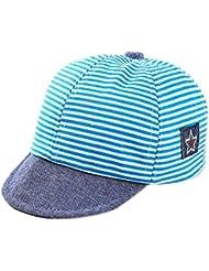 b124b22187d55 Leisial Rayas Gorra de Béisbol Bebé del Borde Suave Sombrero del Sol Verano  para Niño Niña