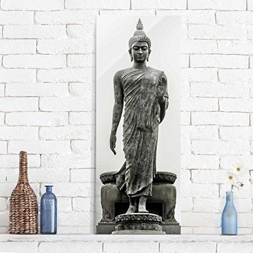 Cuadro de cristal – Buddha Statue – Panorama Alto | mural acristalado mural de pared decoración para pared decoración cristal impresión en cristal mural de pared de cristal fotomural de cristal impresión sobre cristal