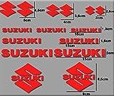 Ecoshirt K0-WHYC-31UN Pegatinas Moto Rgsx Suzuki R169 Stickers Aufkleber Decals Autocollants Adesivi, Rojo