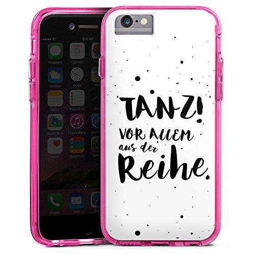 Apple iPhone 7 Plus Bumper Hülle Bumper Case Glitzer Hülle Tanzen Spruch Visual Statements Bumper Case transparent pink