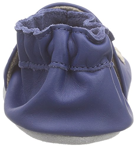 Robeez Jolly Peg Baby Jungen Krabbelschuhe Blau (BLEU FONCE)