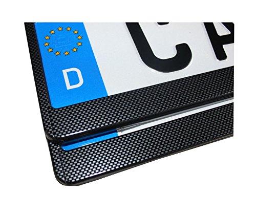 2-Kennzeichenhalter-Nummernschildhalter-Kennzeichenhalterung-Carbon-inklMontageanleitung-4-Befestigungsschrauben-und-neue-KFZ-Schein-Schutzhlle-alles-Neu-OVP-TOP-ANGEBOT
