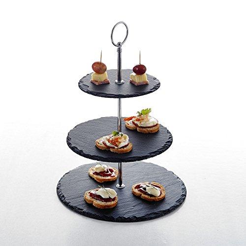 MALACASA, Serie Sweet.Time, Etagere, 6/8/10 Zoll Schiefer Etagere ServierStänder 3-stöckig Dessert Ständer