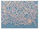 200 FERMOIRS EMBOUTS PLASTIQUE FORME TUBE POUR BOUCLES D'OREILLES - LIVRAISON GRATUITE - CREATION PERLES