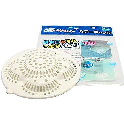 Monouso niceeshop capelli filtro scolare capelli Stopper caso, bianco (Bianco Sink Stopper)