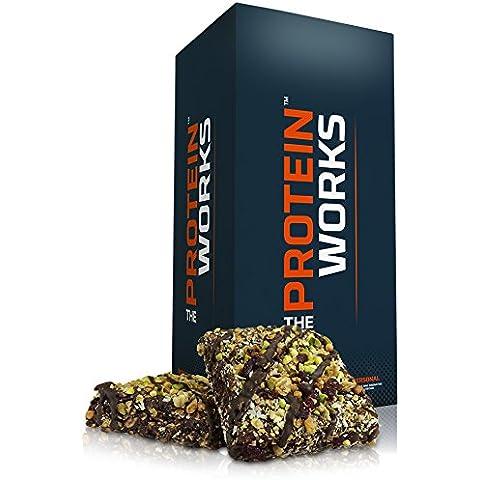 The Protein Works - Barrette Proteiche all'Avena Luxe - Pistacchi & Cioccolato al Latte - 7 per Scatola