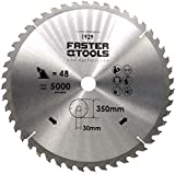 Lama per sega circolare per legno, 350 x 30 mm, con 48 denti, resistente alle unghie, per tagliare legno da costruzione, legna da ardere con sega circolare, troncatrice e sega circolare da tavolo