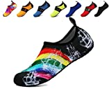 adituob Sommer Trinkflasche Haut Aqua Schuhe für Paare Frauen Männer Uns 10.5-11 Männer Regenbogen 44-45