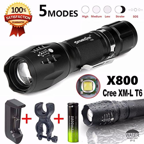 Preisvergleich Produktbild Taschenlampe, BBring SkyWolfeye X800 Taschenlampe LED Zoomable Military Torch G700 mit Ladegerät
