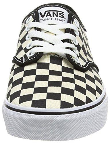 Vans Camden Deluxe - Scarpe da Ginnastica Basse Uomo, Nero (washed/black/gum), 38.5 EU Multicolore (checkers/black/natural)