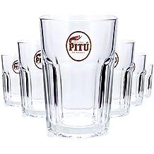 6 x Pitu Longdrink 0,3l Glas / Gläser, Markenglas, Cocktailglas