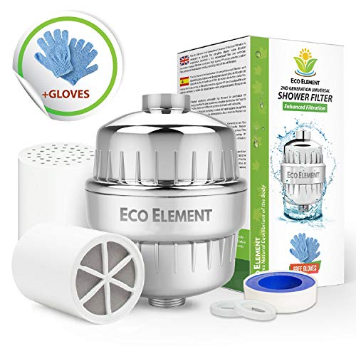 Eco Element 2nd Generacion Filtro de ducha mejorado. Elimina cloro, cloramina, flúor y productos químicos...