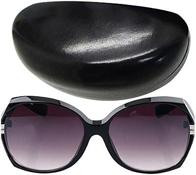 DEHANG Gafas de sol para Mujer grandes de moda sunglasses anti-UV400 Playa Conducir Guapa con Cristales Polarizados - Cristal negro - con estuche y bolsa