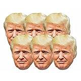 Star Cutouts smp366Fun seis unidades de cartón de máscaras de Donald Trump. Gran tema de conversación, diversión para eventos y fiestas. Mano/A