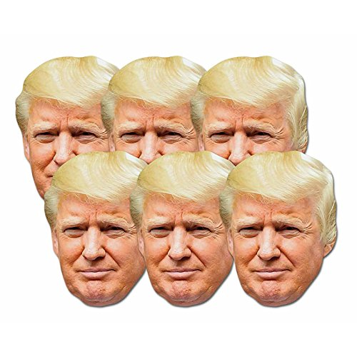 Star Cutouts SMP366 divertimento cartone da pezzi maschere di Donald Trump. Great Talking Point, divertimento per eventi e feste. Hand/a