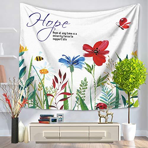jzxjzx Tapisserie frische farbige Blumen Wandbehänge Stranddecken 3 75 * 90