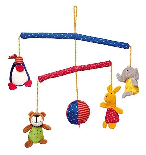 Preisvergleich Produktbild Sigikid, Mädchen und Jungen, Mobile mit Tieren, PlayQ, Bunt, 49543