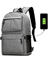 Laptop Backpack For Men And Women With USB Charging Port Fits 12-17 Inch Laptop And Notebook, Waterproof School...