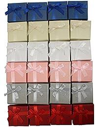 24 Cajas de Regalo para Joyería y Manualidades en Colores Surtidos de Curtzy TM