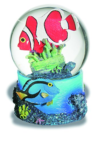 0435Figur Kugel Schnee Fisch Clown (Schneekugel Figuren)