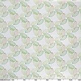 ANRO Wachstuchtischdecke Wachstuch Wachstischdecke Tischdecke abwaschbar Abstrakt Stimmung Laub Grün 100 x 140cm - 2