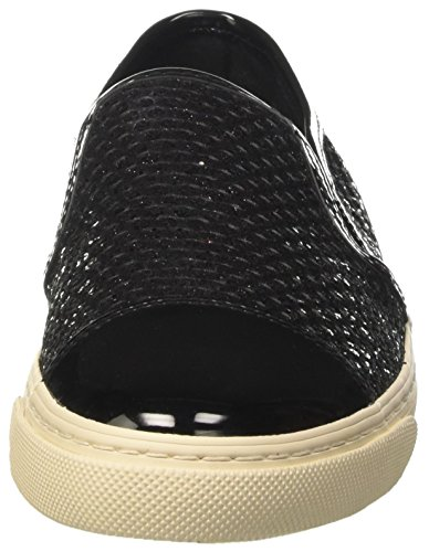 Geox Damen D New Club G Sneaker Schwarz (Black)