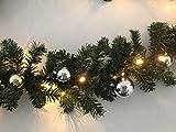 Best Season LED-Tannengirlande mit Dekoration, 5m 80 Warmweis, Plastik, Grün, 500 x 18 x 13 cm
