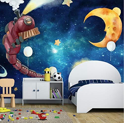 VVBIHUAING 3D Wandbilder Aufkleber Wand Tapete Dekorationen Träumerischer Mondraum Der Kinder Schlafzimmer Wohnzimmer Sofa Art Kinderküche (W) 250x(H) 175cm (Riesen-wand-abziehbilder Für Wohnzimmer)