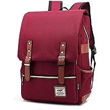 Escuela Dayback mochila de viaje mochila para ordenador portátil 15,6 pulgadas Bolsa resistente bolsa de lona para niños niñas Mujeres rojo rosso