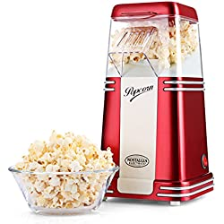 Máquina para Palomitas Nostalgia 100% Libre de aceite para hacer popcorn, saludable, Fácil de limpiar, popcorn maker, Rojo