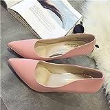 Moda Mujer globalpowder Spritech? puntiagudos taconera Elegant bombas zapatos tacones puntera para trabajo para boda, rosa, US:6.5