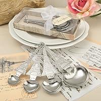 From Paris With Love Collection, Set di 4a forma di cuore a forma di cucchiai dosatori