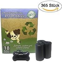365 Premium Hundekotbeutel/Poop Bags mit Spender   biologisch abbaubar, Umweltfreundlich, Extra Stark, geruchsneutral und tropfsicher