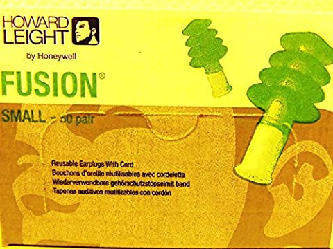 50paires Boîte lamelles Bouchons anti-bruit Fusion Hear Pack–Taille S (Small)–recommandation pour les femmes/pour femme