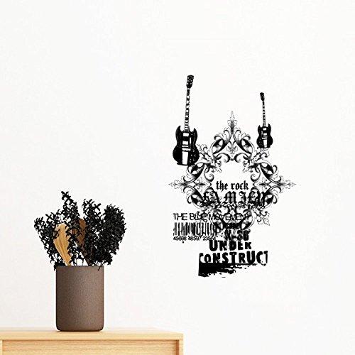 DIYthinker Gitarren-Musik-Gothic-Art-Muster entfernbare Wand-Aufkleber-Kunst-Abziehbilder Wand-DIY...