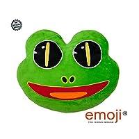 Frog emoji® - emoji® Brand Cushion - Super Soft, Super Cuddly Pillow. This is a large emoji or emoticon pillow from emoji®