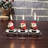 Junjie Weihnachtskerzen Weihnachtsmann Schneemann Geburtstag Weihnachtsfeier Dekoration Kerze Duftenden Spritzguss Paraffinwachs