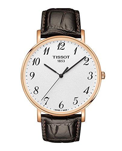 Tissot Herren-Armbanduhr Everytime Analog Quarz Leder T1096103603200 (Leder Armbanduhr Tissot)