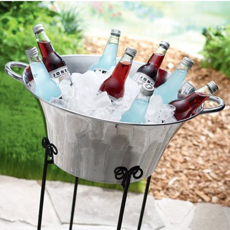 round-aluminum-beverage-ice-bucket-with-handles