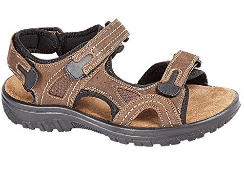 mens-martin-brown-real-leather-adjustable-touch-fasten-comfort-gladiator-summer-sandals-shoes-size-7